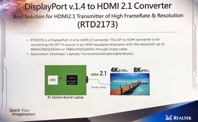 瑞昱发布DisplayPort 1.4转HDMI 2.1方案