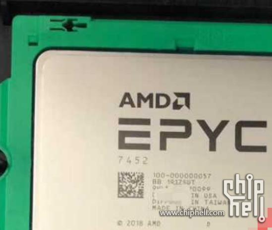 AMD 7nm 32核霄龙7452跑分曝光:对比Intel 20核至强