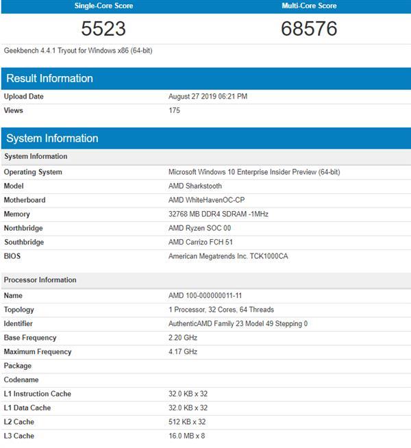AMD 7nm锐龙ThreadRipper再曝:可加速4.2GHz IPC性能大涨