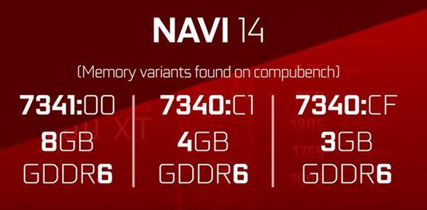 AMD新系列7nm Navi显卡最多配8GB显存 3GB版为中国独享