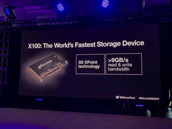 美光发布当前世界最快SSD X100:9GB/s读写速度、Intel傲腾劲敌