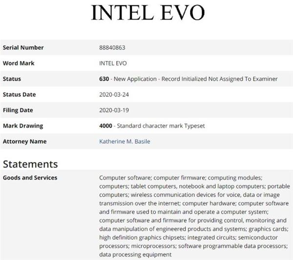Xe架构独显就要用它?Intel悄悄注册EVO商标