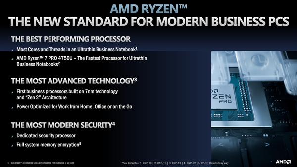 7nm树立商务本新标杆!AMD正式发布锐龙PRO 4000U系列